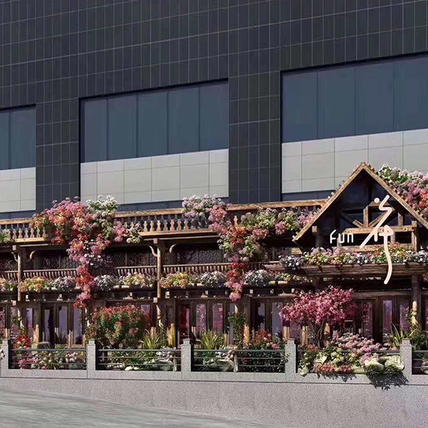 济南繁花酒吧防腐木工程