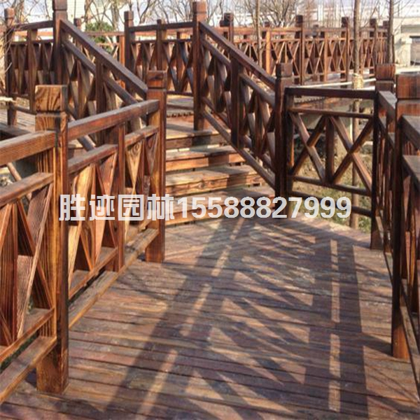 青岛防腐木护栏