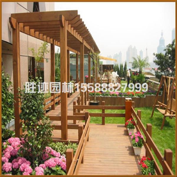 防腐木花廊架