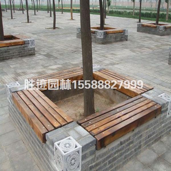 公园防腐木桌椅