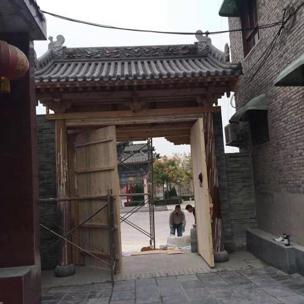 济南防腐木门楼