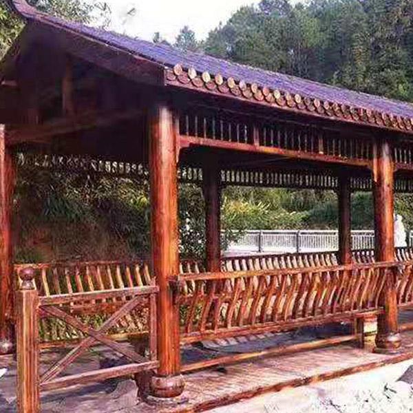 济南防腐木长廊