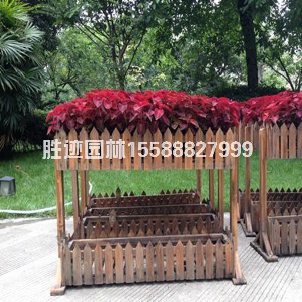 防腐木园艺花箱