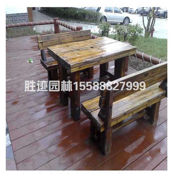 景区防腐木桌椅