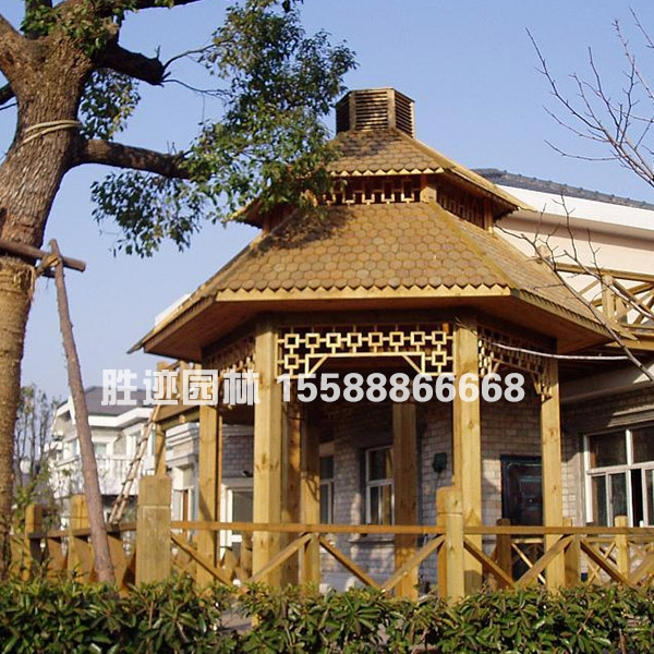 青岛园林防腐木凉亭