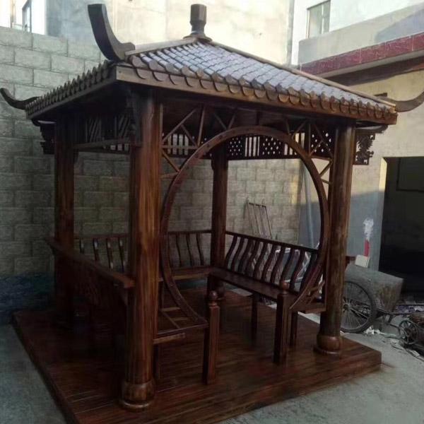 花园防腐木凉亭