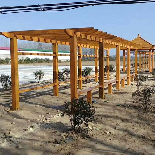 防腐木走廊架