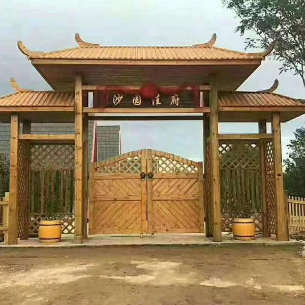 东营防腐木门楼