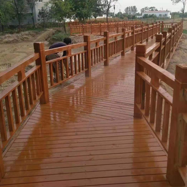 东营滨州防腐木围栏