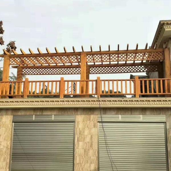 屋顶防腐木花架
