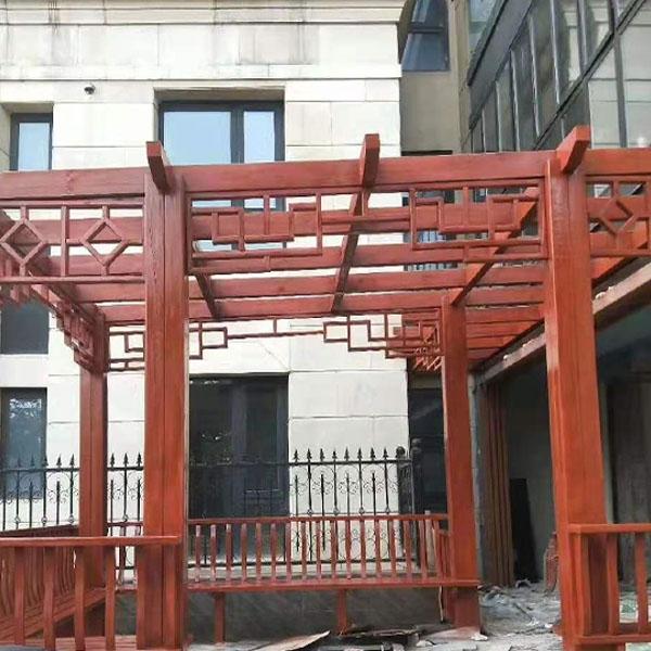 东营室外防腐木花架