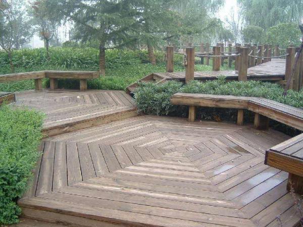 防腐木地板施工