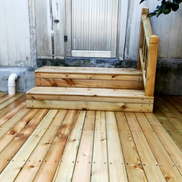 防腐木地板安装