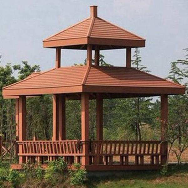 景观防腐木凉亭