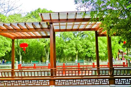 济南防腐木花架